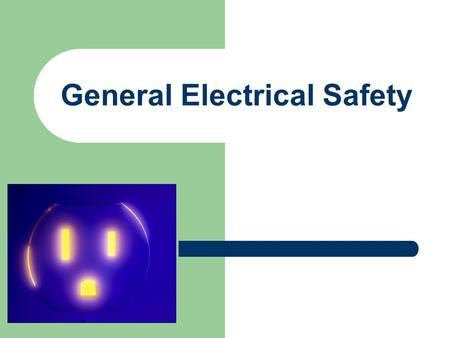 General Electrical Safety. Agenda Electrical Injuries Classification of Exposure Electrical Hazards Electrical Hazard Control.