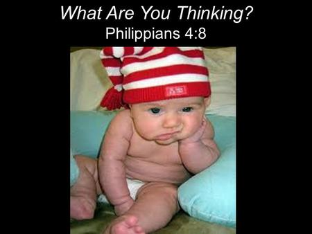 "What Are You Thinking? Philippians 4:8. ""I cannot keep the birds from flying over my head, but I can keep them from making a nest under my hat."" ~ Martin."