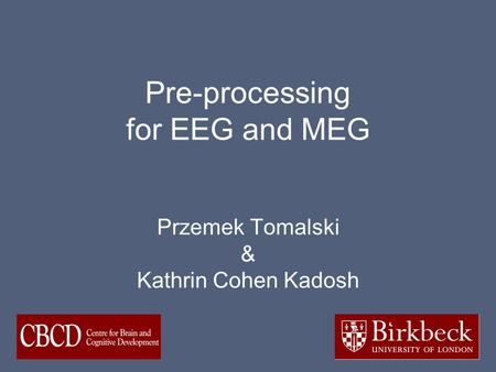 Pre-processing for EEG and MEG