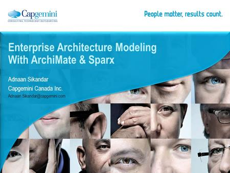 Enterprise Architecture Modeling With ArchiMate & Sparx