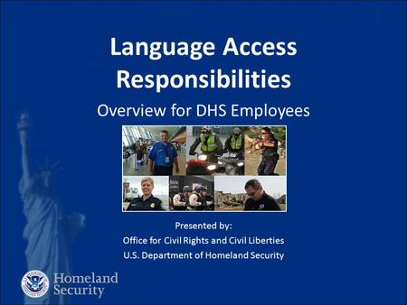 Language Access Responsibilities