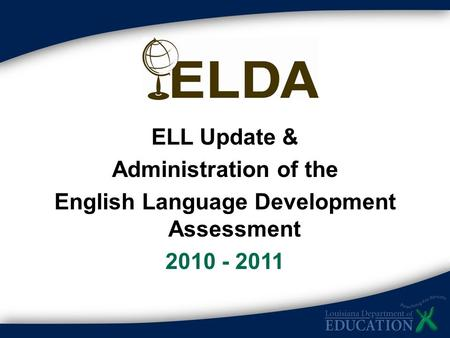 English Language Development Assessment