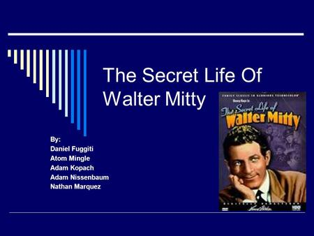 walter mitty daydream essay Get an answer for 'based on the secret life of walter mitty, create your own  walter mitty's short story with at least three daydreams the requirements are as.