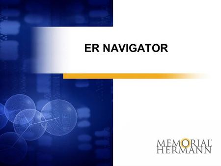 ER NAVIGATOR Community Outreach for Personal Empowerment.