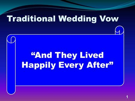 Traditional Wedding Vow