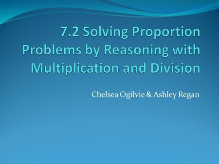 Problem Solving Proportions