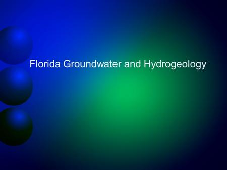 Florida Groundwater and Hydrogeology. Groundwater provides 98% of all available freshwater 62% 21% United States Total Water Withdrawals Florida Surface.