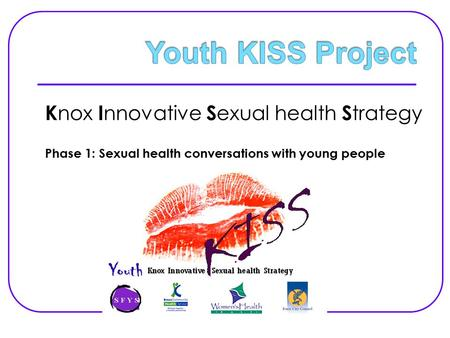 K nox I nnovative S exual health S trategy Phase 1: Sexual health conversations with young people.