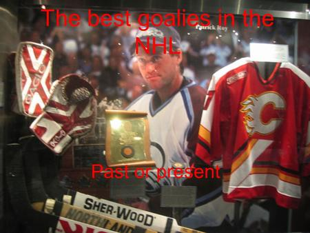 The best goalies in the NHL Past or present. Patrick Roy He first played in Montreal Then played on the Avalanche And got two Stanley cup for the Avalanche.