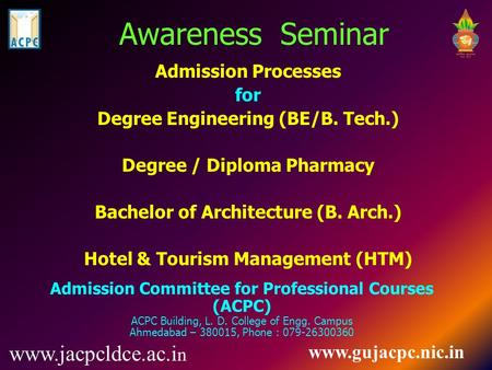 Admission Processes for Degree Engineering (BE/B. Tech.)