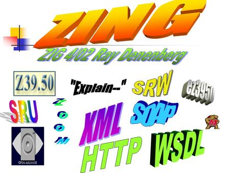 "ZML  ZNG  ZING ""Z39.50 over XML""  ""Z39.50 Next Generation""  ""Z39.50-international: Next Generation"""