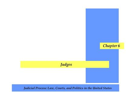 Chapter Topics Judicial Selection Appointment of Federal Judges Judicial Elections Merit Selection Which Selection System is Best? Judges at Work Judging.