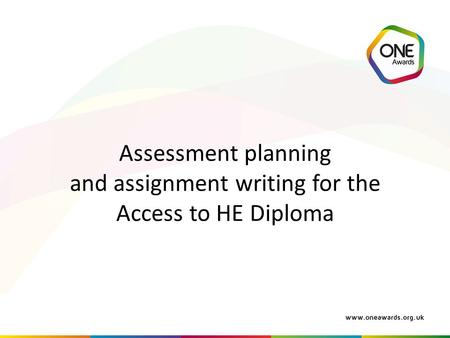 Aim to provide key guidance on assessment practice and translate this into writing assignments.