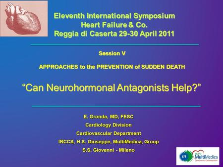 """Can Neurohormonal Antagonists Help?"""