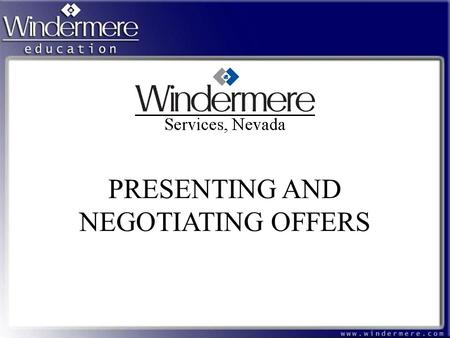 PRESENTING AND NEGOTIATING OFFERS. What We Will Cover Review Presentation Techniques Review Negotiation Techniques Have Specific Examples of Techniques.
