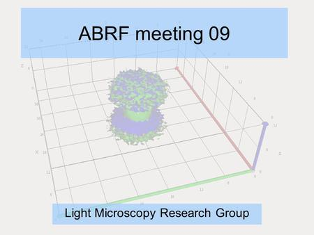 ABRF meeting 09 Light Microscopy Research Group. Why are there no standards? Imaging was largely an ultrastructure tool Digital imaging only common in.