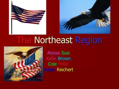 The Northeast Region Alyssa Susi Katie Brown Cole Miller Adam Reichert.