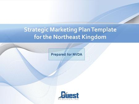 1 Strategic Marketing Plan Template for the Northeast Kingdom Prepared for NVDA.
