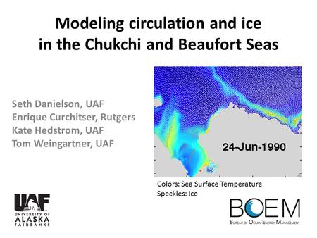 Modeling circulation and ice in the Chukchi and Beaufort Seas