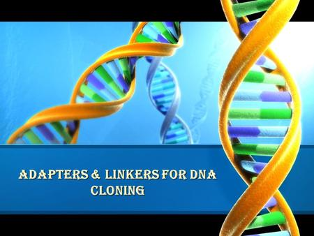 ADAPTERS & LINKERS for dna cloning