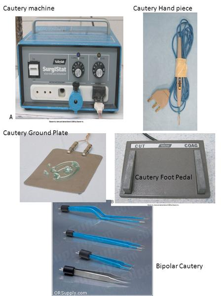 Cautery machine Cautery Hand piece Cautery Ground Plate Cautery Foot Pedal Bipolar Cautery.