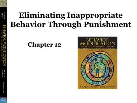 Eliminating Inappropriate Behavior Through Punishment Chapter 12.