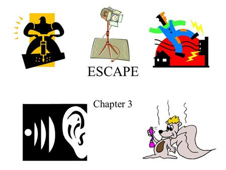 ESCAPE Chapter 3. Biologically vs. Psychologically Aversive Conditions Biologically Aversive –High & low temp –Painful stimuli that can cut or bruise.