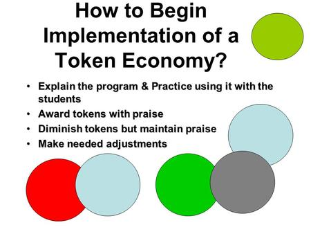 How to Begin Implementation of a Token Economy? Explain the program & Practice using it with the studentsExplain the program & Practice using it with the.