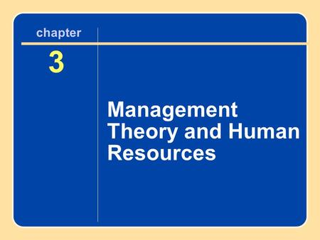 Author name here for Edited books chapter 3 Management Theory and Human Resources 3 chapter.