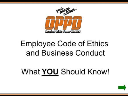 Employee Code of Ethics and Business Conduct