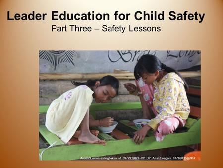 Leader Education for Child Safety Part Three – Safety Lessons