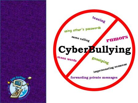 Lesson Objectives Define Cyberbullying. Identify activities which are considered Cyberbullying. Examine ways to prevent Cyberbullying.