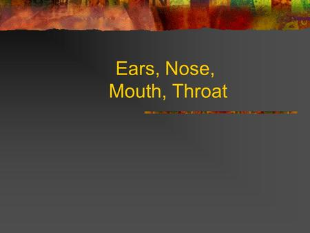 Ears, Nose, Mouth, Throat.