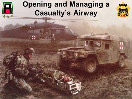 Opening and Managing a Casualty's Airway.  the tongue is the most common cause of an airway obstruction  when a casualty is unconscious, muscles relax.