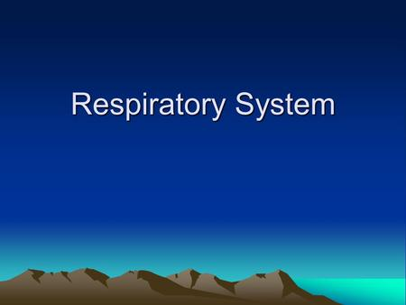 Respiratory System. Introduction The CV and Respiratory system cooperate to supply O2 and eliminate CO2.