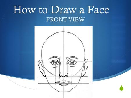 How to Draw a Face FRONT VIEW.