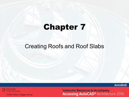 Creating Roofs and Roof Slabs