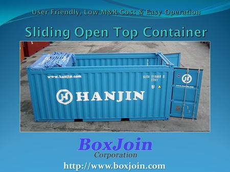 Contents 1. Open Top Container 1. General Open Top Container 2. Hard Top Container 3. Sliding Open Top Container 2. Sliding Open.