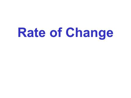 Rate of Change. Rate of Change of a Linear Relationship The rate of change of a linear relationship is the steepness of the line. rise run Rate of Change.