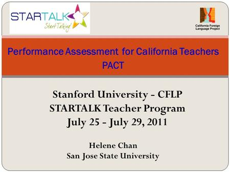 Performance Assessment for California Teachers PACT
