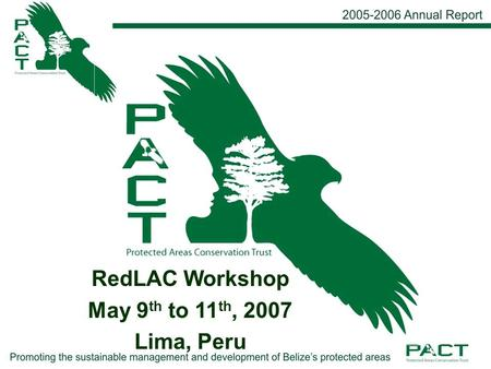RedLAC Workshop May 9 th to 11 th, 2007 Lima, Peru.
