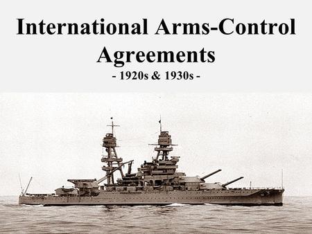 The locarno era and the dream of disarmament