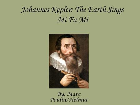 Johannes kepler contributions to science essay