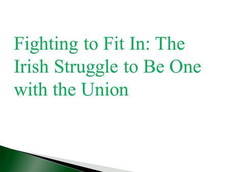 Irish americans struggle to fit in boston