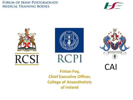 Chief Executive Officer, College of Anaesthetists of Ireland