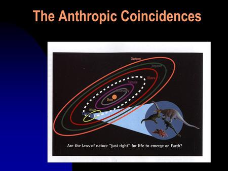 "The Anthropic Coincidences. The Anthropic Coincidences 1. The existing nuclear forces are essential to the existence of the universe and of life. ""The."