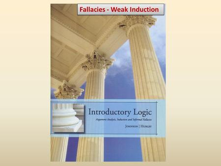 "Fallacies - Weak Induction. Homework Review: Fallacies » pp. 103-105, §4.1 ""Fallacies in General"" » pp. 121-131, §4.3 ""Fallacies of Weak Induction"" Inductive."