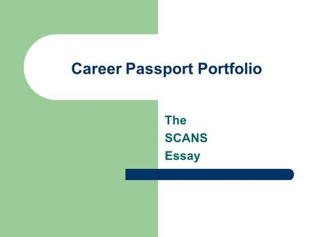 career portfolio essay Set up and design a portfolio as if you are seeking a career as a human resource manager you need to only fill out the bold parts but have the other parts set up so i can fill them out.