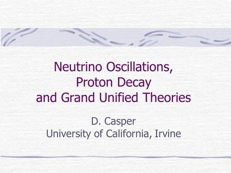 Neutrino Oscillations, Proton Decay and Grand Unified Theories