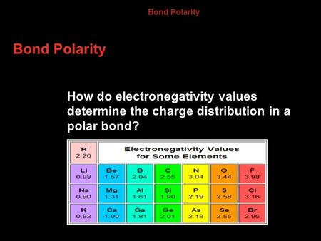 8.4 Bond Polarity Bond Polarity